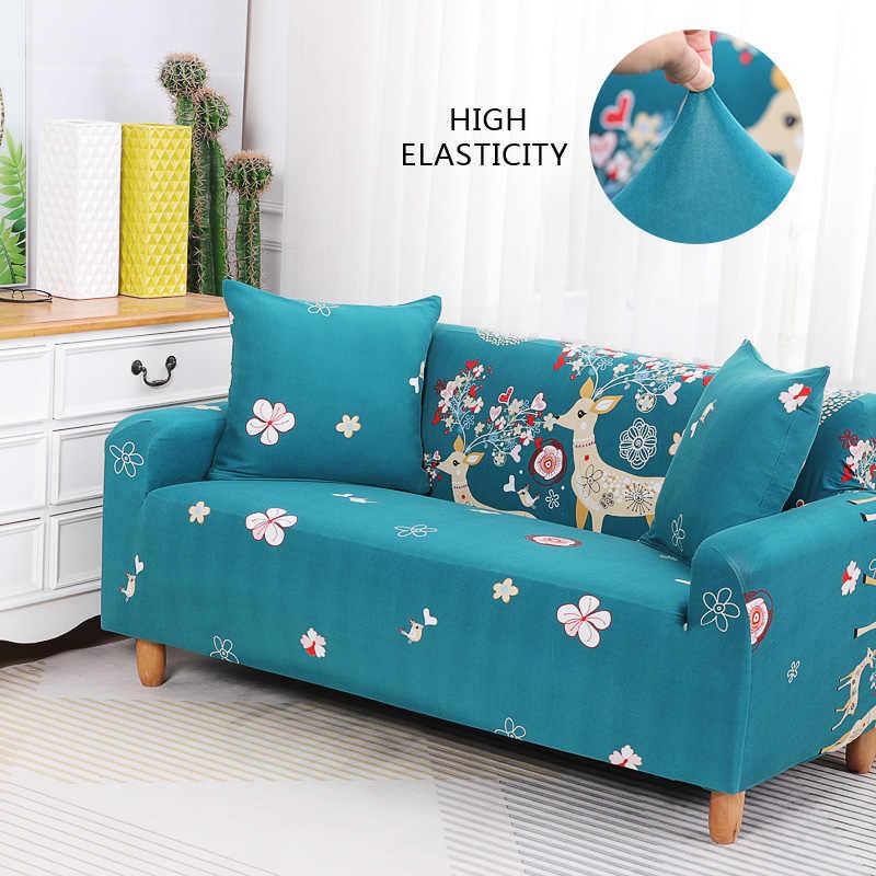 floral printing stretch elastic sofa