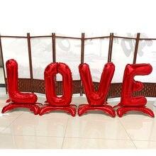 30 polegada carta de amor vertical folha balão decoração do casamento criativo letra balão coluna