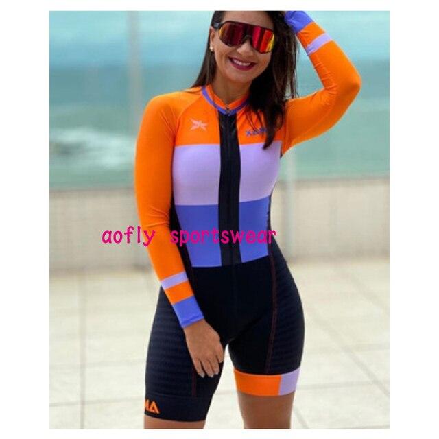 Longo triathlon manga curta camisa de ciclismo conjuntos skinsuit maillot ropa ciclismo bicicleta jérsei roupas ir macacão 2
