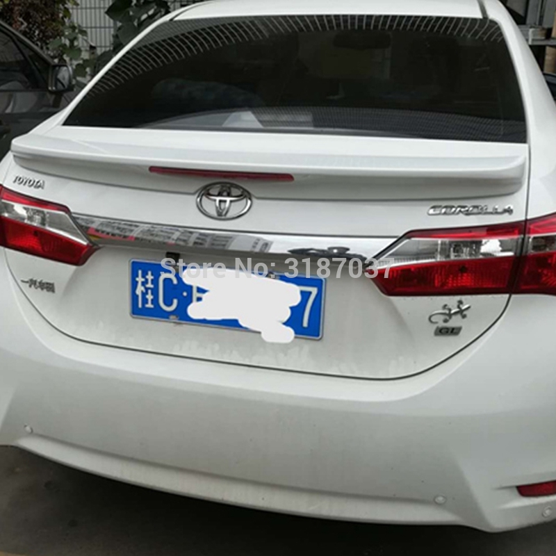 For <font><b>Toyota</b></font> <font><b>Corolla</b></font> <font><b>Spoiler</b></font> with light ABS Plastic Unpainted Color Rear Roof <font><b>Spoiler</b></font> Wing Trunk Lip Boot Cover Car Styling image