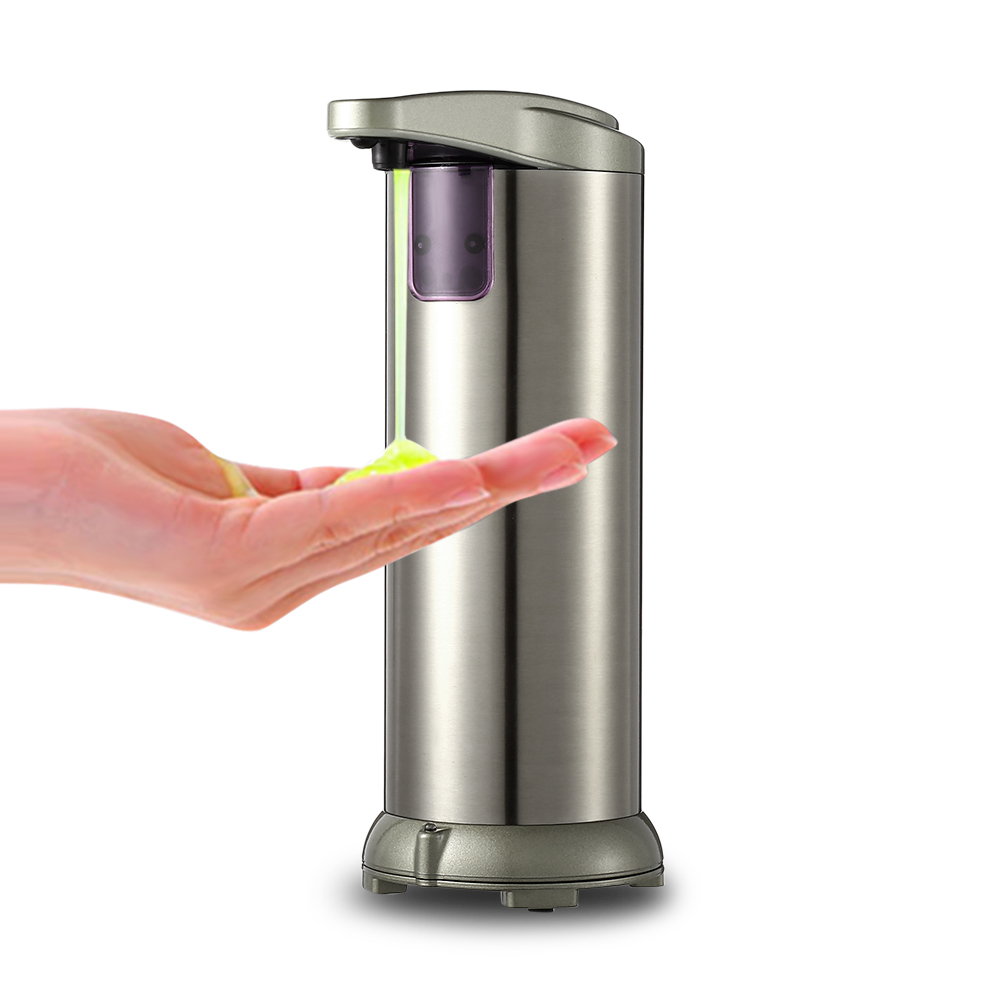 280ml Electroplated Automatic Soap Dispenser Touch-free Sanitizer Dispenser Built-in Infrared Smart Soap Sensor Kitchen Bathroom