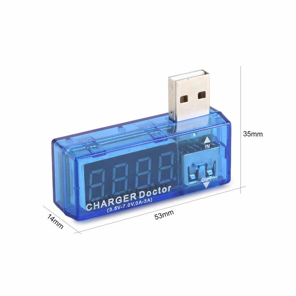 Chargeur de charge USB numérique docteur ampèremètre voltmètre testeur de tension de courant détecteur de batterie de puissance Mobile avec écran LCD