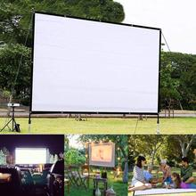 Portable Foldable 150 inch Projector Screen HD 4:3 White Dacron Video Projection Screen Wall Mounted for Home Theater Movie