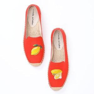 Image 1 - Tienda Soludos Vrouwen Espadrilles 2019 Nieuwe Gehaast Hennep Sapatos Mode Platte Schoenen Vrouw Lui Op Sneakers Mocassins Schoeisel