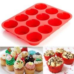 12 cavidade mini muffin silicone sabonete biscoitos cupcake bakeware bandeja molde bolo de silicone ferramentas de decoração molde microondas seguro #8