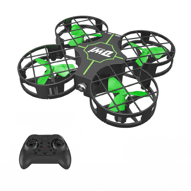 DWI D2 Fully GRID Mini Four-axis Remote-control Drone Set High Unmanned Aerial Vehicle Children Drop-resistant Remote Control Ai