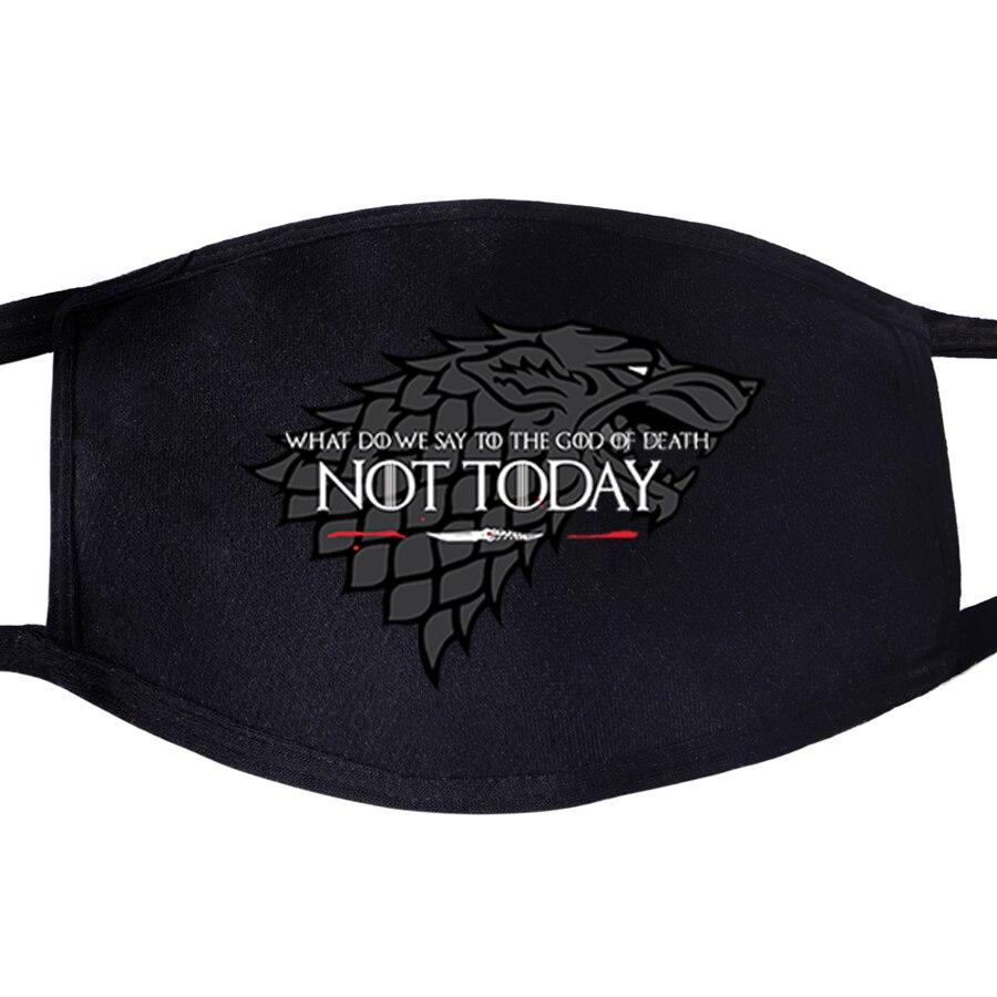 Game Of Thrones Not Today Arya Stark Winter Is Comming Daenerys Targaryen Wolf Dragon Reusable Mask