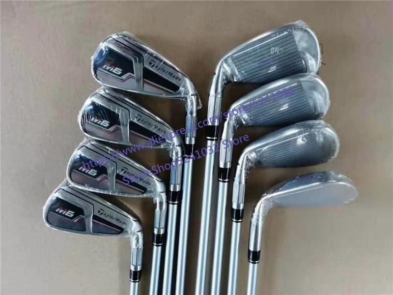 Golf clubs 2019 M6 Modello di Ferro M6 Set da Stiro Ferri Da Stiro Ferri Da Golf 4 9PS (8 PCS) r/S Flex Acciaio Inox/Pozzo della grafite Con Copertura Della Testa