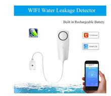 WIFI Liquid Leak Sensor Wireless Water Level Detector Leakage Overflow Buzzer Tuya Smart Life APP Push Alarm Alerts