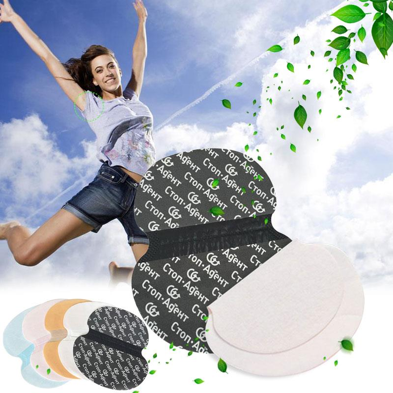5 Colors Antiperspirant Pads Ladies Underarm Pad Sweat Stick Your Post Sweat Pads Underarm Armpit Deodorants 1pc