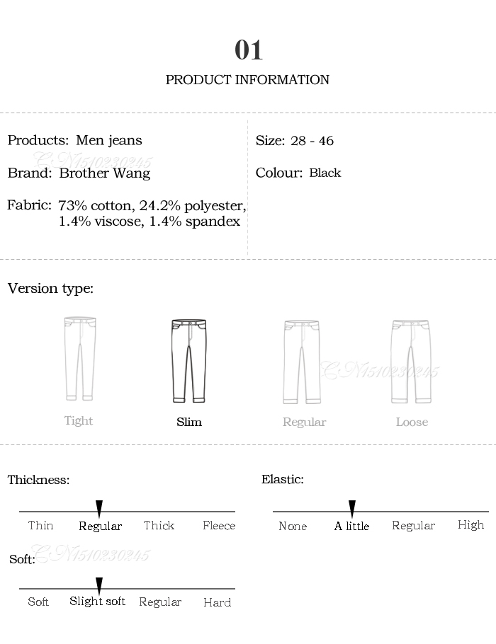 Classic Advanced Stretch Black Jeans 2020 New Style Business Fashion Denim Slim Fit Jean Trousers Male Brand Pants