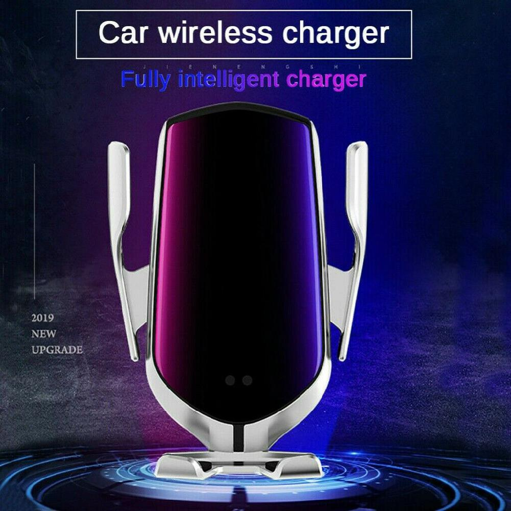 Vehicle Wireless Charger Car Mobile Phone Holder Clamping Bracket 10w Fast Infrared Induction Charging Wireless Charger