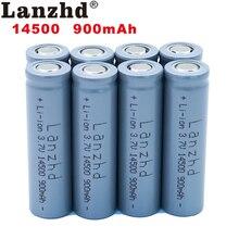 8pcs 14500 900mAh 3.7V Li-ion Rechargeable Batteries AA Battery Lithium Li ion Cell for Led Flashlight Headlamps Torch Mouse 2 4pcs unitek 3 7v 18500 battery 1800mah rechargeable li ion lithium ion cell with welding tabs pins for led torch flashlight