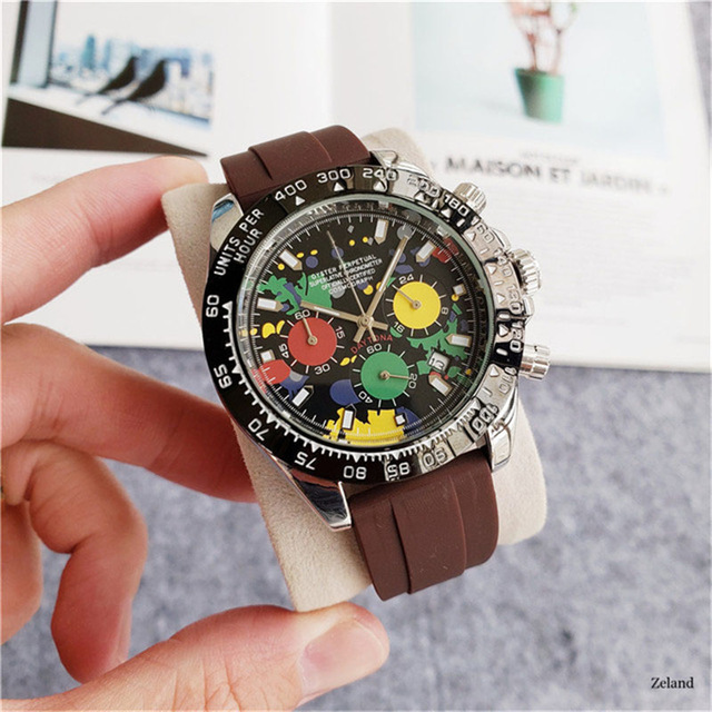 Роскошные мужские деловые кварцевые часы 2021, мужские часы ведущего бренда, хронограф, секундомер AA Daytona, модный подарок, мужские часы