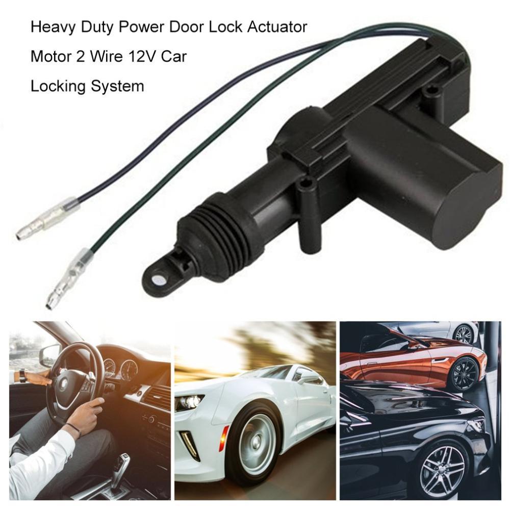 אוניברסלי כבד כוח Duty מנעול דלת מפעיל מנוע 2 חוט 12V רכב נעילת מערכת מפעיל יחיד אקדח סוג ערכת
