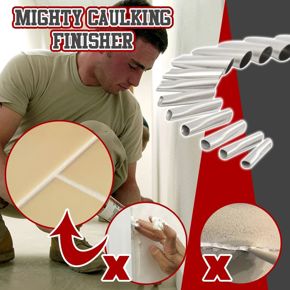 14Pcs Caulking Finisher Caulk Nozzle Applicator Stainless Steel Sealant Finishing Tool Kit Kitchen Bathroom Window Sink Joint