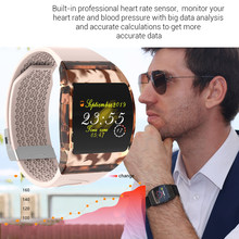 Fitness Tracker New Transparent Dial Smart Watch Bracelet Women Blood Pressure Heart rate Monitor Health Wristband Couple Watch(China)