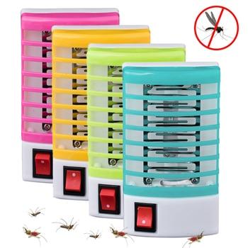 220V Socket Electric Mini Night LED Mosquito Killer Lamp Fly Bug Insect Trap Catcher Light Night Lamp Killer Zappe EU Plug