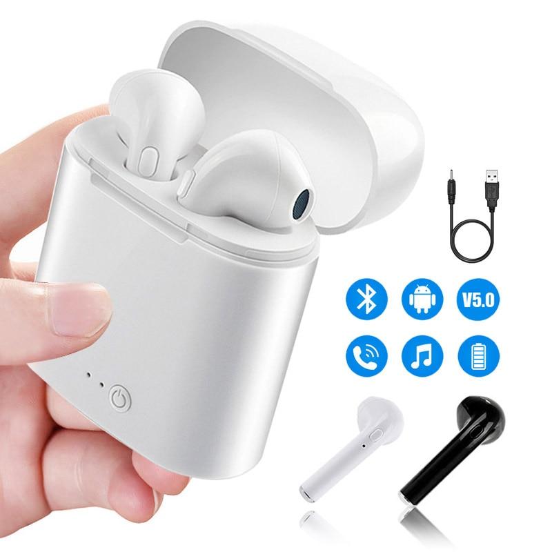 I7s TWS airpods беспроводные Bluetooth наушники 5,0 Air pods Mini аирподс Sport Handsfree стерео вкладыши гарнитура с зарядным устройством для Apple iPhone Xiaomi