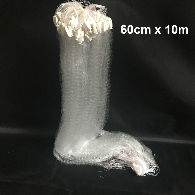 Fishing Net Single Mesh Nylon Durable Accessories Float Trap Monofilament 60cm X 10m