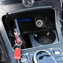 Console centrale de rangement en plastique pour Mercedes Benz classe C W205 classe GLC X253 classe E W213, accessoire de voiture, support de verre