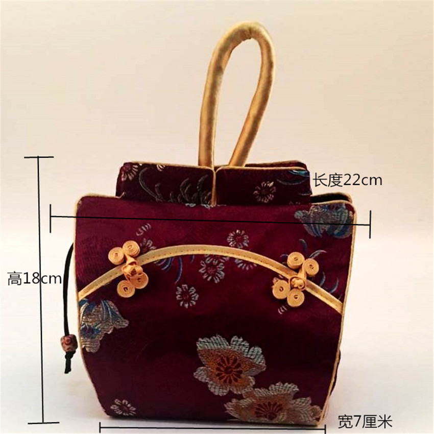 Chinese-style Creative Retro Cheongsam Bag Elegant Chinese Style Silk Brocade Small Handbag Shoulder Bag Purse