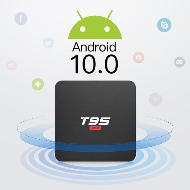BYINTEK TV Box Android 10.0 ,2G+16G 2.4G WIFI, Media Player Netflix Hulu,Media player 4K Google Voice Assistant Youtube
