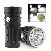 Waterproof Super Bright LED Flashlight 2600LM 11 x XML-T6 LED Hunting Fishing Flash Light Torch Lamp led flashlight 13x xml t6 led waterproof super bright backpacking hunting fishing torch flash lamp