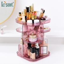 Acrylic Makeup Organizer Square Rotating Cosmetic Storage Rack 360 Box Jewelry organizers