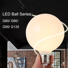 Decorative Light Bulbs LED Sphere E27 Dragon Ball Lighting Fixture 3W/5W/7W G60 G80 G95 G125 Series Hanging Light Pendant