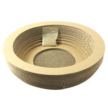 HOT Pet Supplies Toys Cat Scratch Board Bowl Toy Corrugated Paper Send Catnip