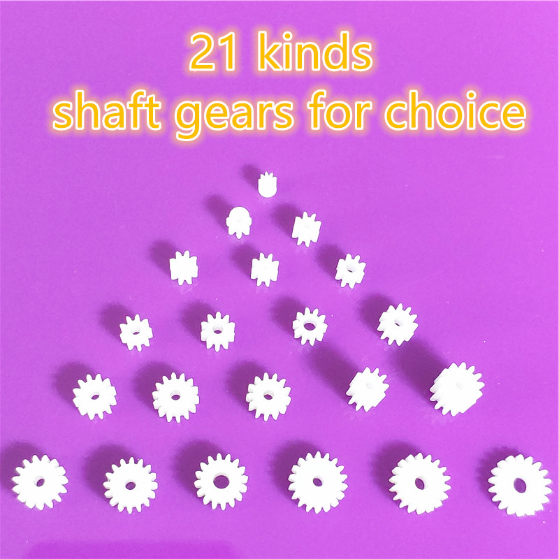 21 Kinds Plastic Shaft Gears Group 1 Motor Teeth Axis Gears Sets 1mm 2mm Hole Diameter DIY Helicopter Robot Toys Dropshipping