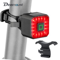 Deemount-luz de freno de bicicleta recargable por USB, linterna de advertencia trasera LED para bicicleta, accesorio Manual inteligente para ciclismo