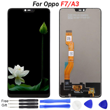 For Oppo F7 LCD Display Touch Screen Digitizer Assembly Replacement 2018 NEW IPS for A3