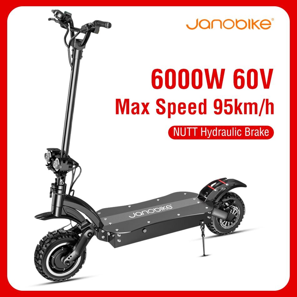 Janobike 90km/h Electric Scooter Wheel 6000W Dual Motor Off road Kick Scooters 2020 New Hydraulic Brake Electric Scooters Adults|Electric Scooters|   - AliExpress