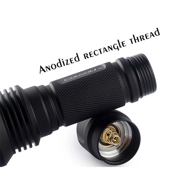 Convoy C8 AK47 7135*6 8 Modes Integrated Head LED Flashlight IPX-8 for Camping Torch Lantern Lamp Portable Waterproof Lights