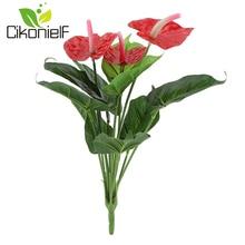 Редкий цветок антуриум Бонсай балкон Горшечное растение бонсай Красный Антуриум цветы букет Свадебный домашний сад Декор