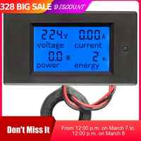 Peacefair AC Single Phase Digital Wattmeter Power Energy Meter 220V 100A Kwh Meter Homekit PZEM-061 with Coil CT Free Shipping