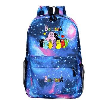 Barbapapa printed travel backpacks for men and women, laptop backpacks, school bags,