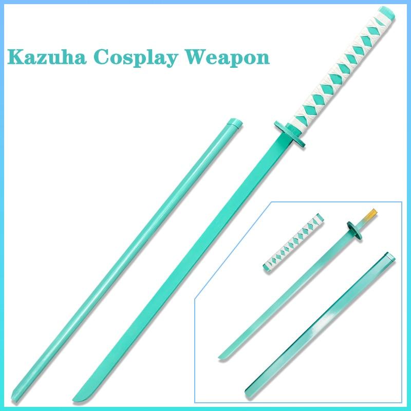 Five-Star Wind Elemental Weapon Game Genshin Impact Account Kazuha Cosplay Props Wooden Sword Anime Project Accessories Ninja