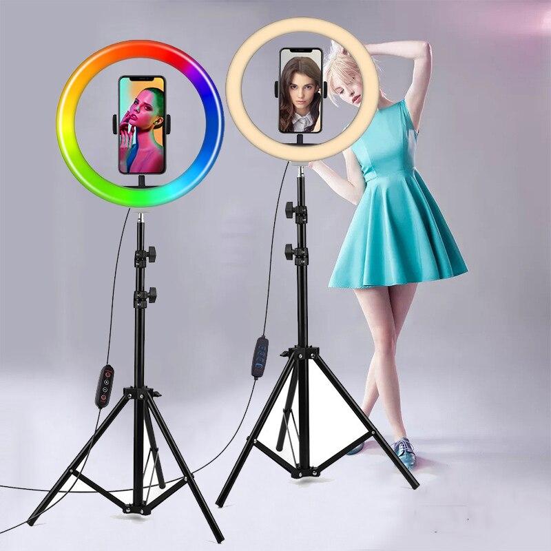 26cm 10 Inch Ring Light Tripod LED Ring Light Selfie Ring Light For Makeup Video Live Aro De Luz Para Hacer Youtube Tik tok