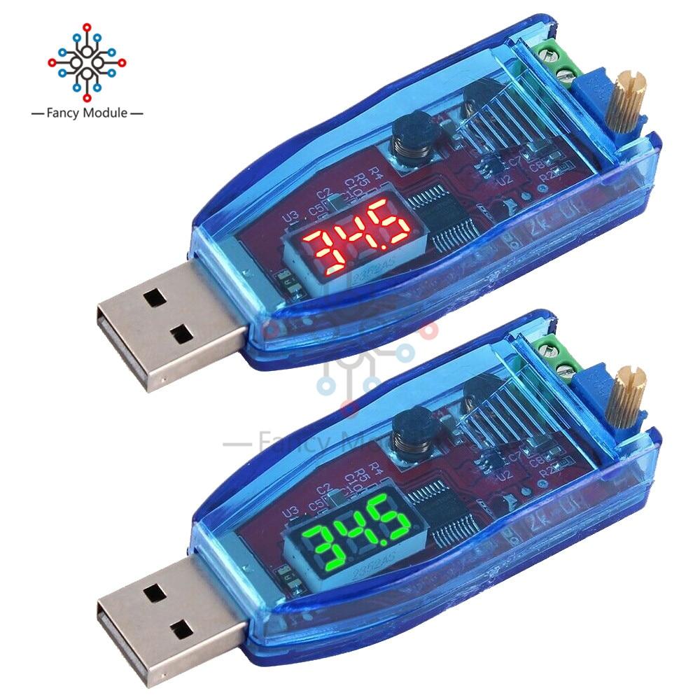 LED DC-DC 5V to DC 1-24V Adjustable Potentiometer USB Step Up/Down Buck Boost Converter Power Supply Voltage Regulator Module