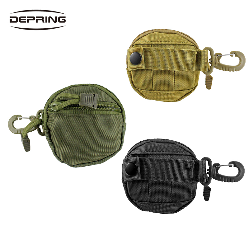 800D Nylon Tactical Belt Pouch Rounded Mini Coin Bag Key Pouch EDC Molle System Organizer Hang Bag For Hunting