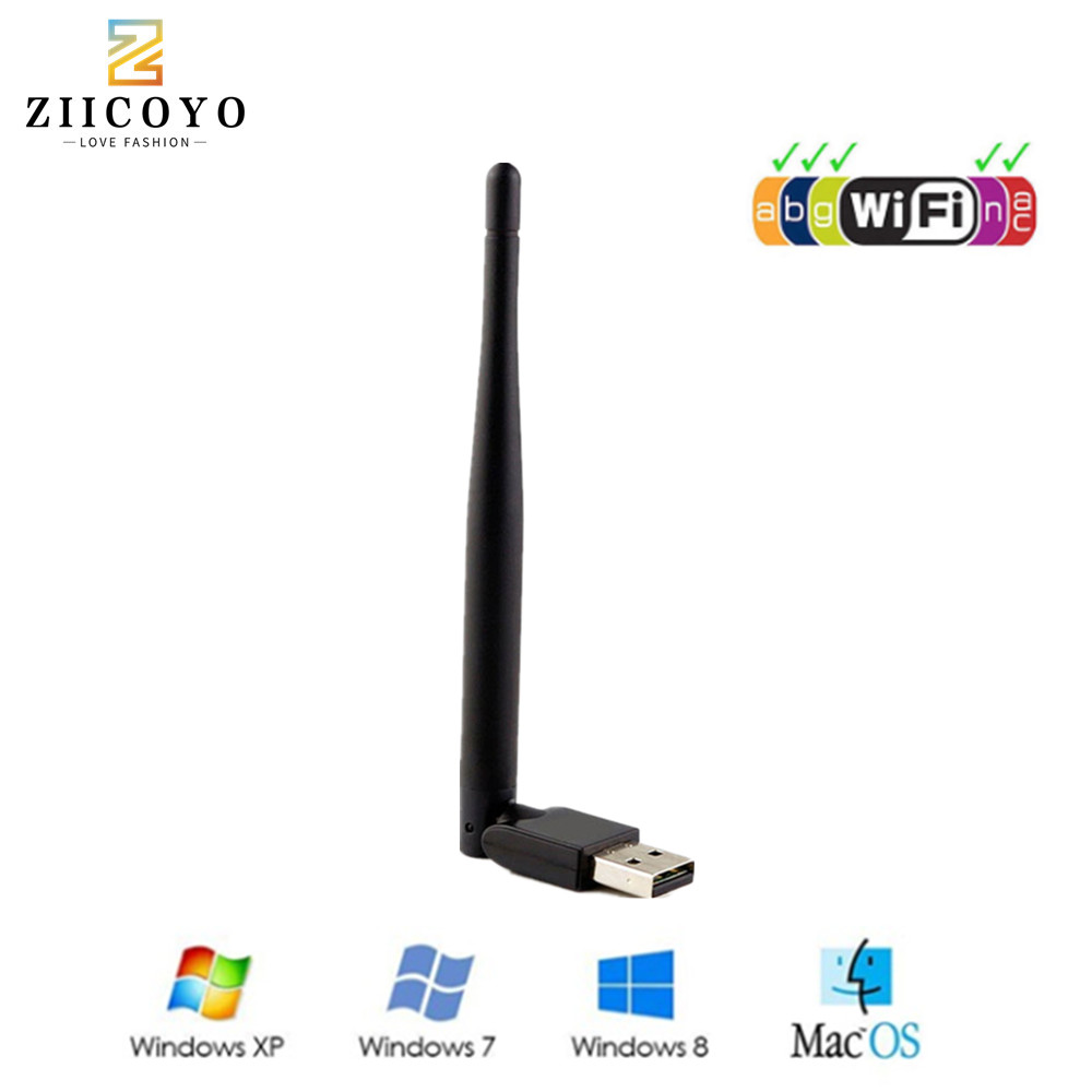 MTK7601 Wireless USB WiFi Antenna Network Youtube Adapter Receptor GTMEDIA V7s Satellite Receiver DVB-S2 DVB T2 TV Box Internet