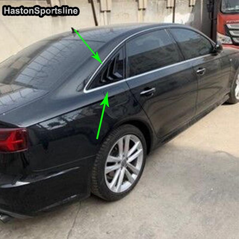 Side Window Visors Sun Guard Vent Deflectors for Audi A6 Avant 4G,C7 2011-2018
