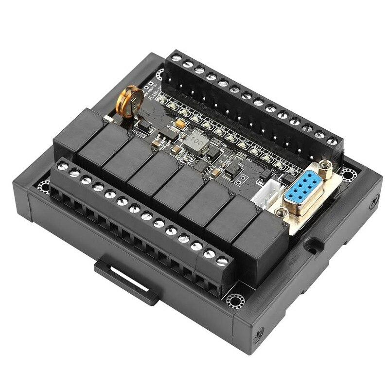 Controlador programable PLC Módulo de relé de 24V CC FX1N-20MR con placa de Control Industrial de Base controlador lógico programable