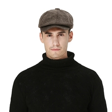 цена на Practical UV Protection Driving Visors Hat Casual Fashion Men's Golf Cap Cotton Linen Flat Newsboy Hat Outdoor Flat Berets Cap