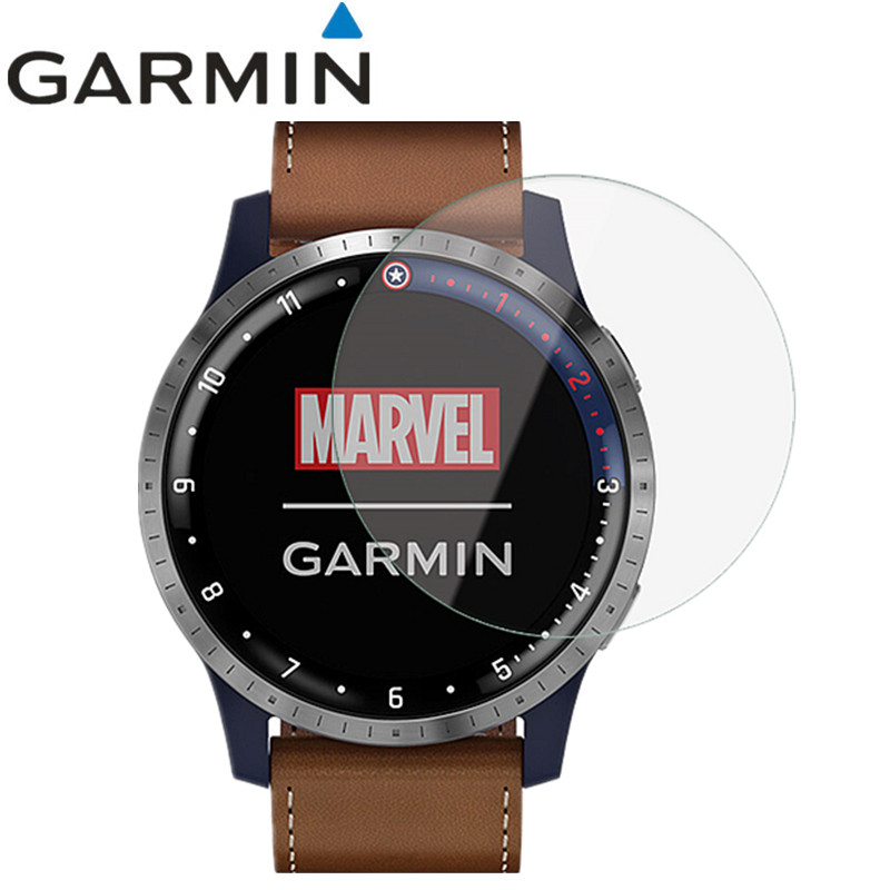 2 Pcs Wristband Screen Protector Guard Cover For Garmin First Avenger ( Captain America ) HD Anti-scratch Electrostatic PET Film