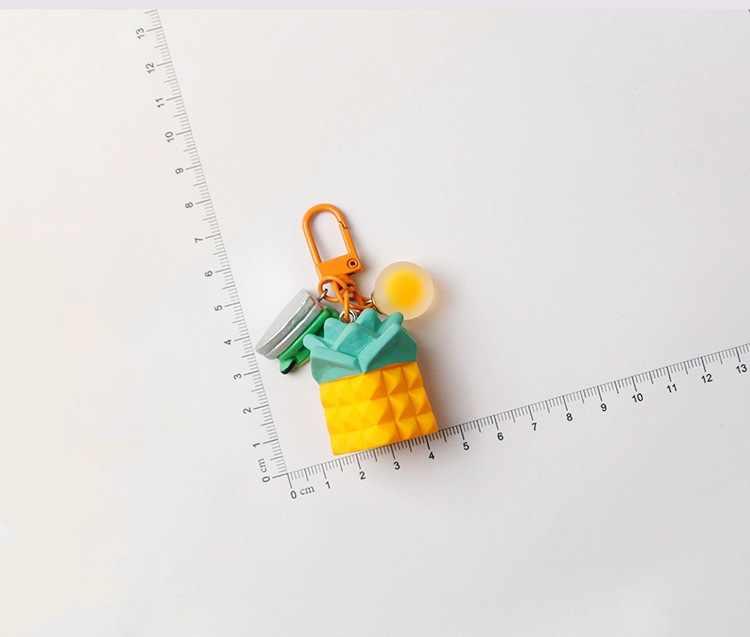 Llavero creativo plátano aguacate piña chica llavero simulación fruta llaveros adecuado para mujeres o hombres llavero regalos