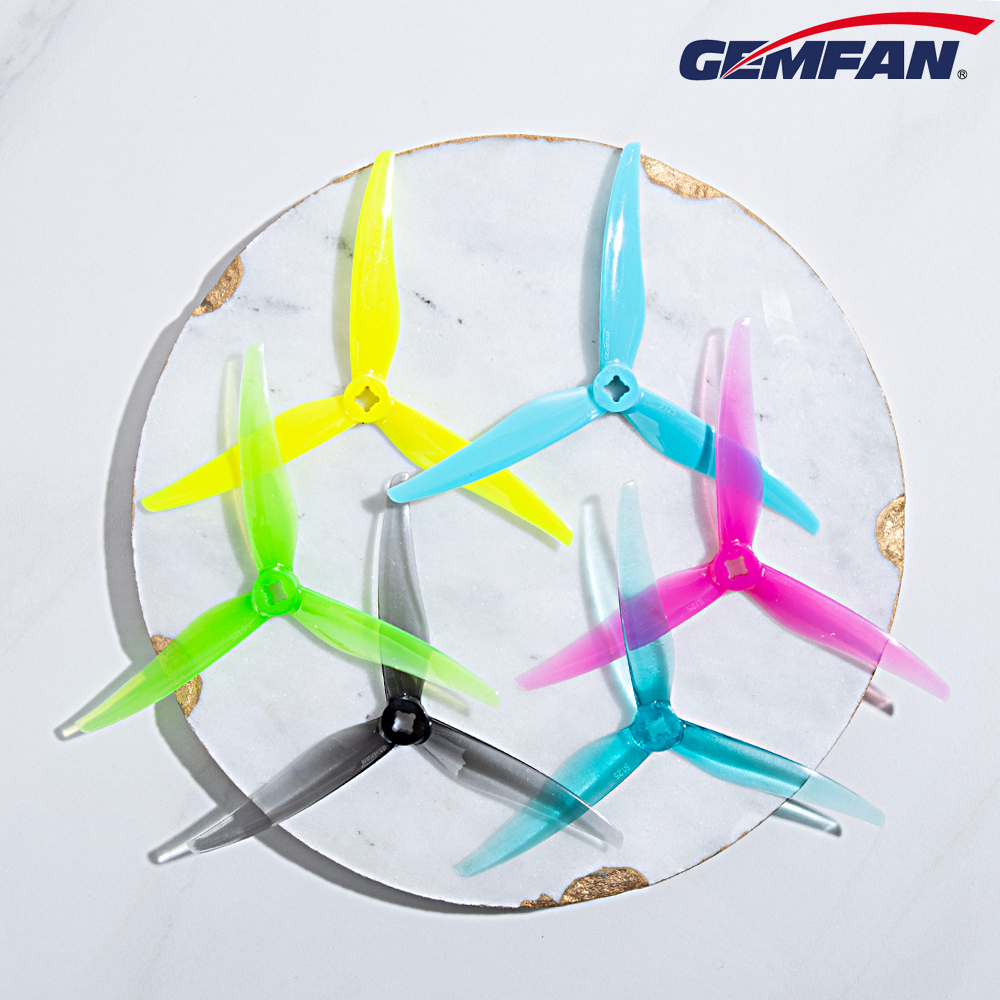 12Pairs Gemfan Hurricane SL 5125 5.1inch 3-blade 1.5/2mm FPV Racing Freestyle Propeller For RC Drone Iflight Nazgul5 Upgrade